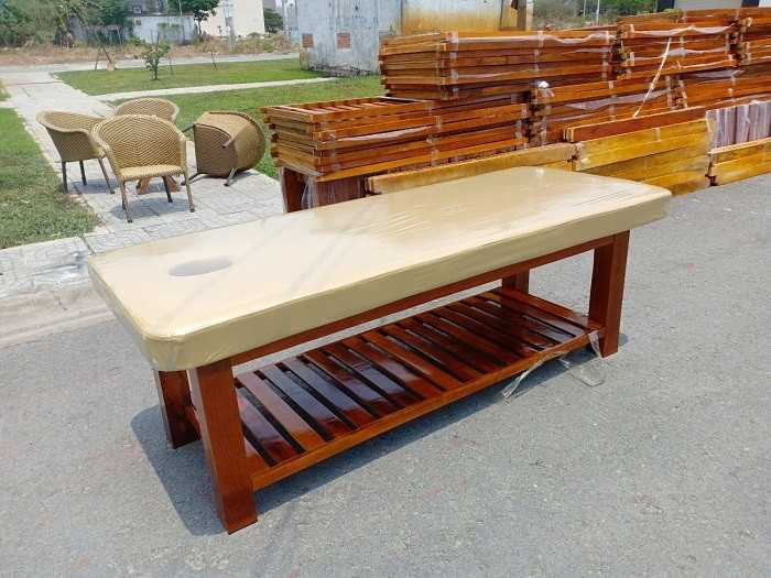 Giường gỗ spa thanh lý giá rẻ tại Thanhlytot