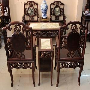 bàn ghế gỗ cũ giá rẻ tại TPHCM