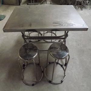 bàn ghế inox quán ăn cũ giá rẻ TPHCM
