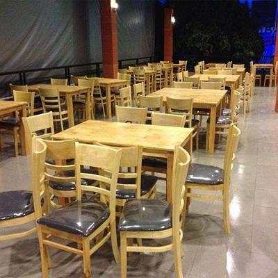 Bàn ghế quán ăn cũ giá rẽ tại TPHCM