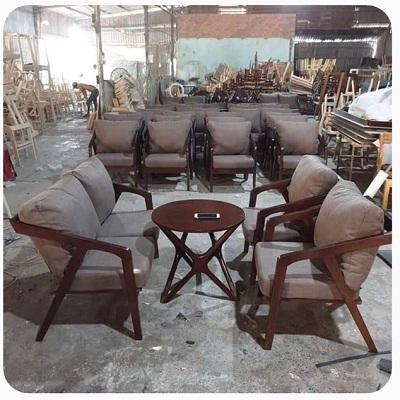 Bàn ghế cafe giá rẻ, bàn ghế cafe gỗ sân vườn tại Tp.hcm