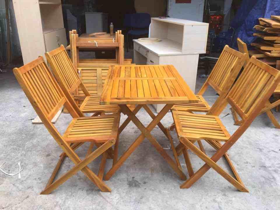 bàn ghế gỗ cafe thanh lý giá rẻ