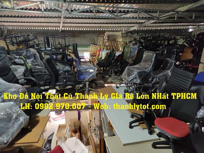 Kho đồ nội thất văn phòng cũ thanh lý giá rẻ tại TPHCM