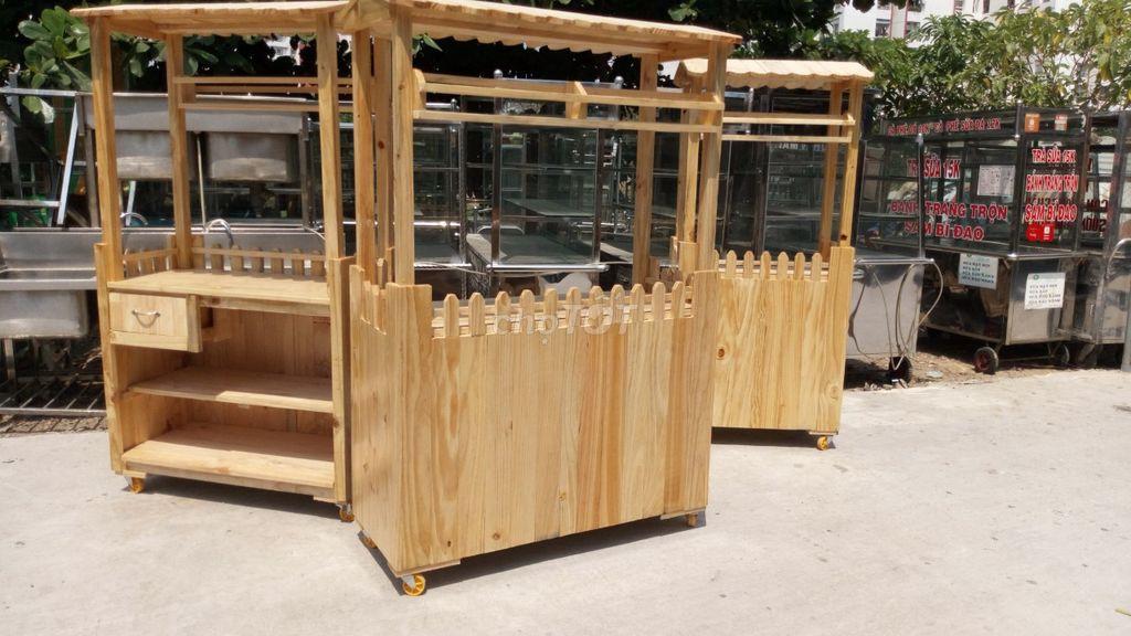 xe gỗ bán trà sữa thanh lý giá rẻ