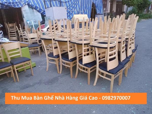 Mua bàn ghế nhà hàng cũ giá cao tại Tp.HCM