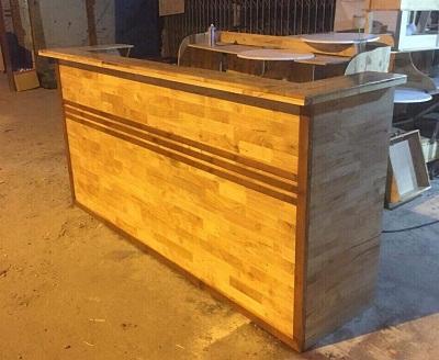 Quầy gỗ cafe giá rẻ tphcm