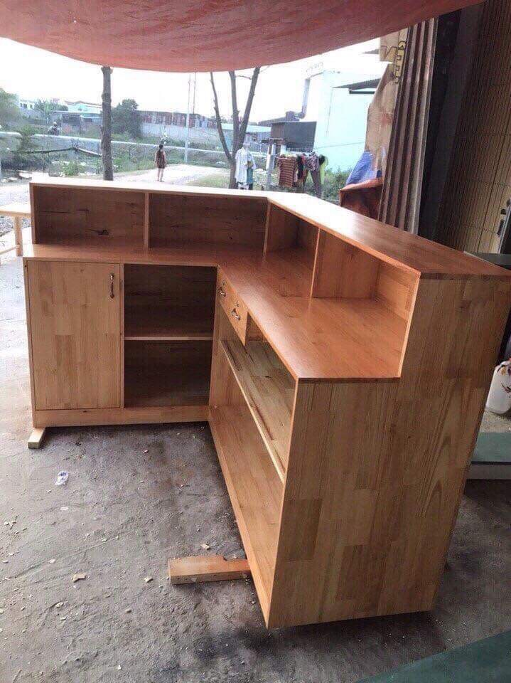 Quầy cafe gỗ giá rẻ 2019