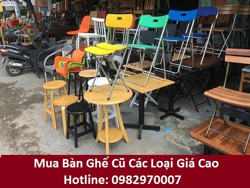 Mua bàn ghế cũ các loại giá cao tại Tp.HCM